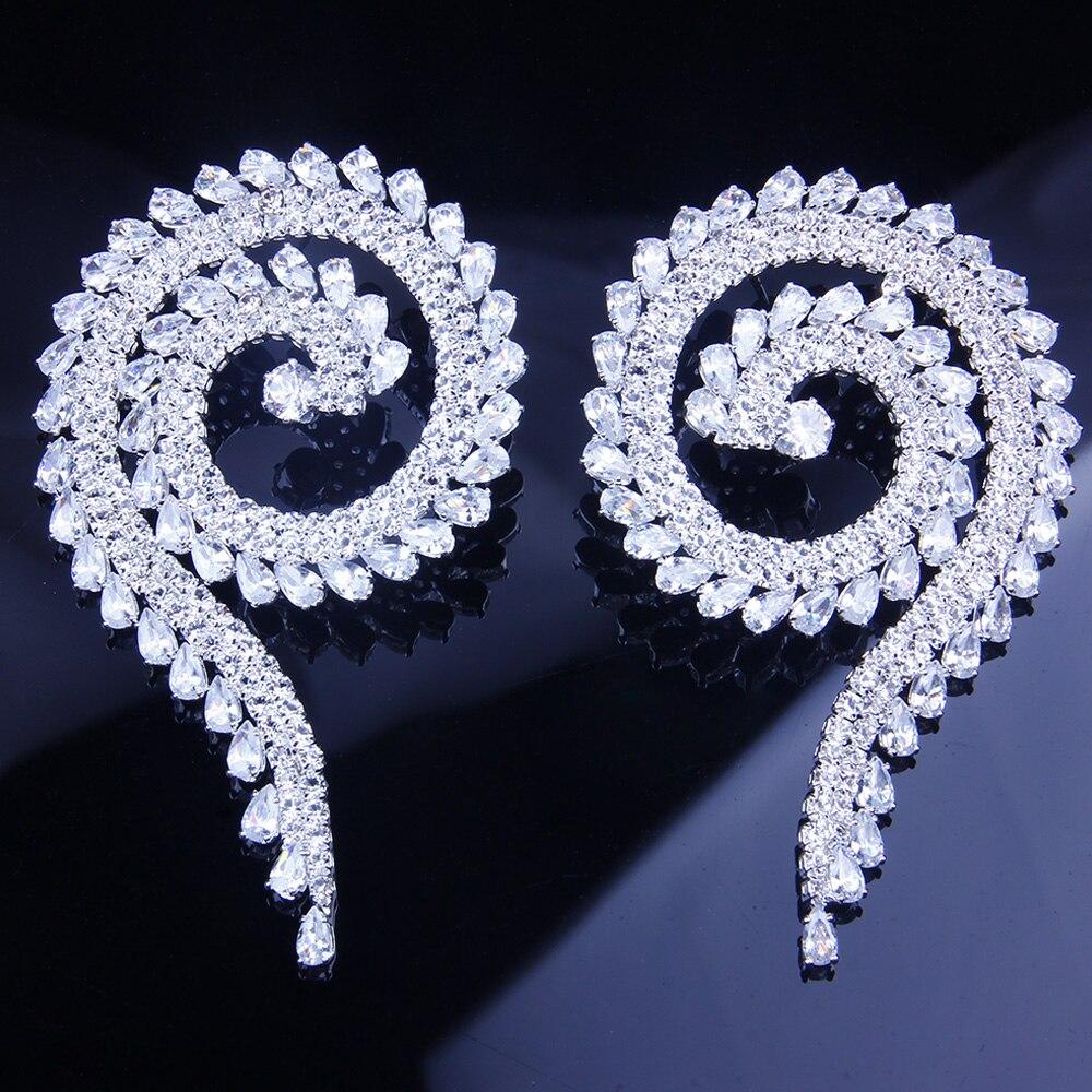 StoneFans mariage grande déclaration zircon cubique nouvelle mode goujon rond femmes soirée de luxe fête boucles d'oreilles Vintage bijoux cadeaux