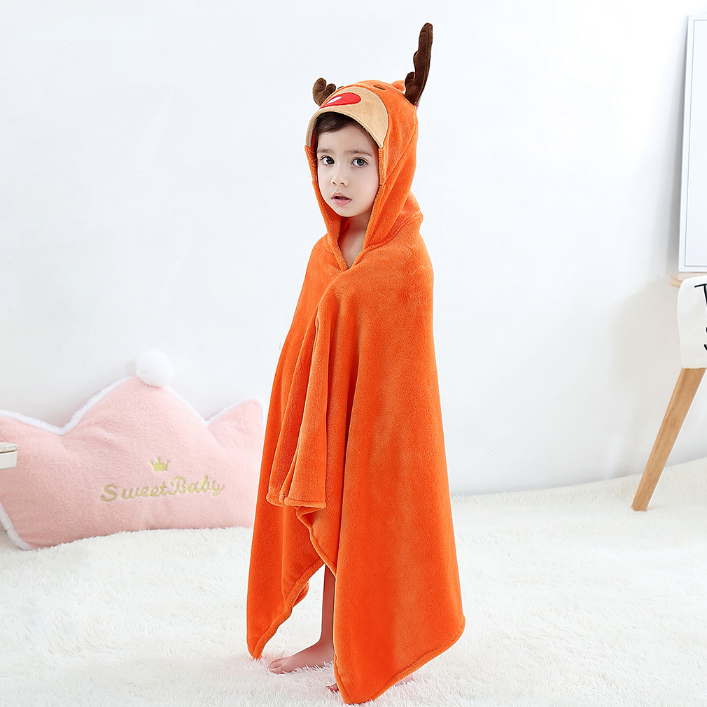 Clothes For Babies Europe And America Cartoon Pullover Bathrobe CHILDREN'S Cloak Mantle Hooded Beach Bath Towel Summer Collector