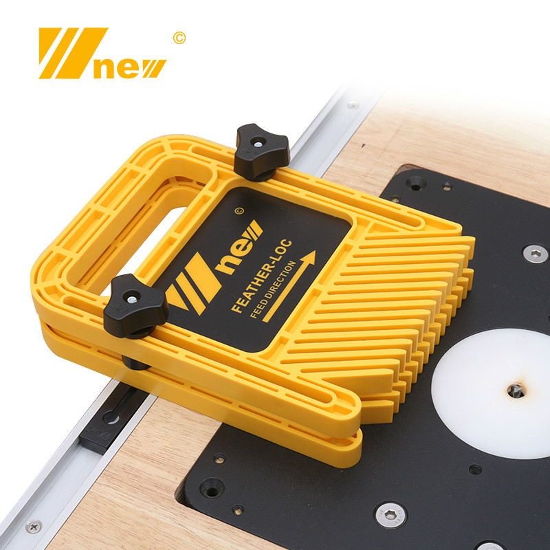 Extended Feather Loc Board Set Multi-purpose Double Featherboards Miter Gauge Slot Woodworking Saw Table DIY Safety Tools