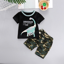 patpat 2020 spring and autumn new baby dinosaur print long sleeves 0 1 years jumpsuit one pieces baby boy clothes PatPat 2020 Summer Baby Camouflage Dinosaur Print Top and Shorts Set Baby Toddler Boy Sets Baby Clothes