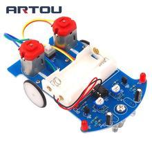 Electronic DIY Kit D2-5 Intelligent Tracking Line Car DIY Kit TT Motor Assembly