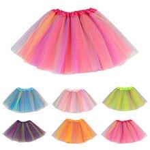 Toddler Kids Girls Baby Multicolor Tutu Skirt Tulle Ballet Skirt outfit Costume Bouffant Skirt Net garza Skirt jupe faldas 2021