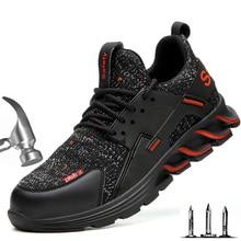 Souliers de sécurité pour hommes avec embout en acier, Anti écrasement, Anti piercing, légères, respirantes, désodorisantes, pour le travail, collection chaussures pour hommes
