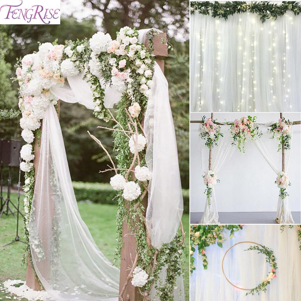 5 m/10 m hilo tul rollo Organza cinta rústica decoración de la boda Deco amor Mariage boda decoración bodas suministro para eventos de fiesta