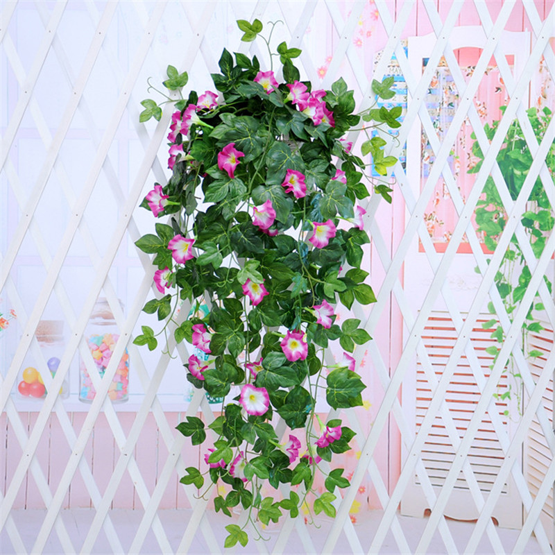 90CM Artificial Fake Hanging Vine Plant Petunia Vine For Wedding Parties Home Decoration Wall Backdrop Flowers Artificial Flower