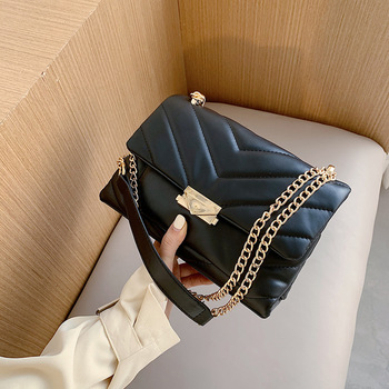 Fashion Quilting Square Women Shoulder Bags Designer Chain Crossbody Bag Luxury Pu Leather Crossbody Bag Female Small Falp Purse fashion quilting square women shoulder bags designer chain crossbody bag luxury pu leather crossbody bag female small falp purse