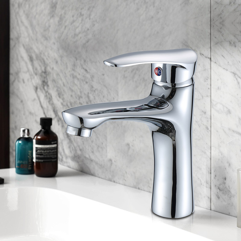 Copper Basin Faucet Bathroom Cabinet Face Wash Drop-in Sink Home Improvement Toilet Cold Domestic Water Electroplated Tap
