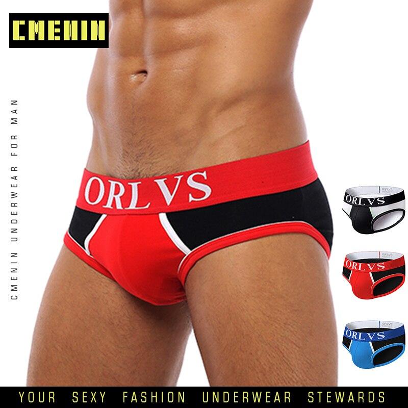 CMENIN Sexy Men Underwear Briefs Cotton Men Underware Slip Men Bikini Breathable Cueca Male Panties Jockstrap Underpants OR07
