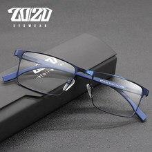 20/20 conception hommes titane alliage optique lunettes cadre mode mâle carré ultra-léger oeil myopie Prescription lunettes HT19-62