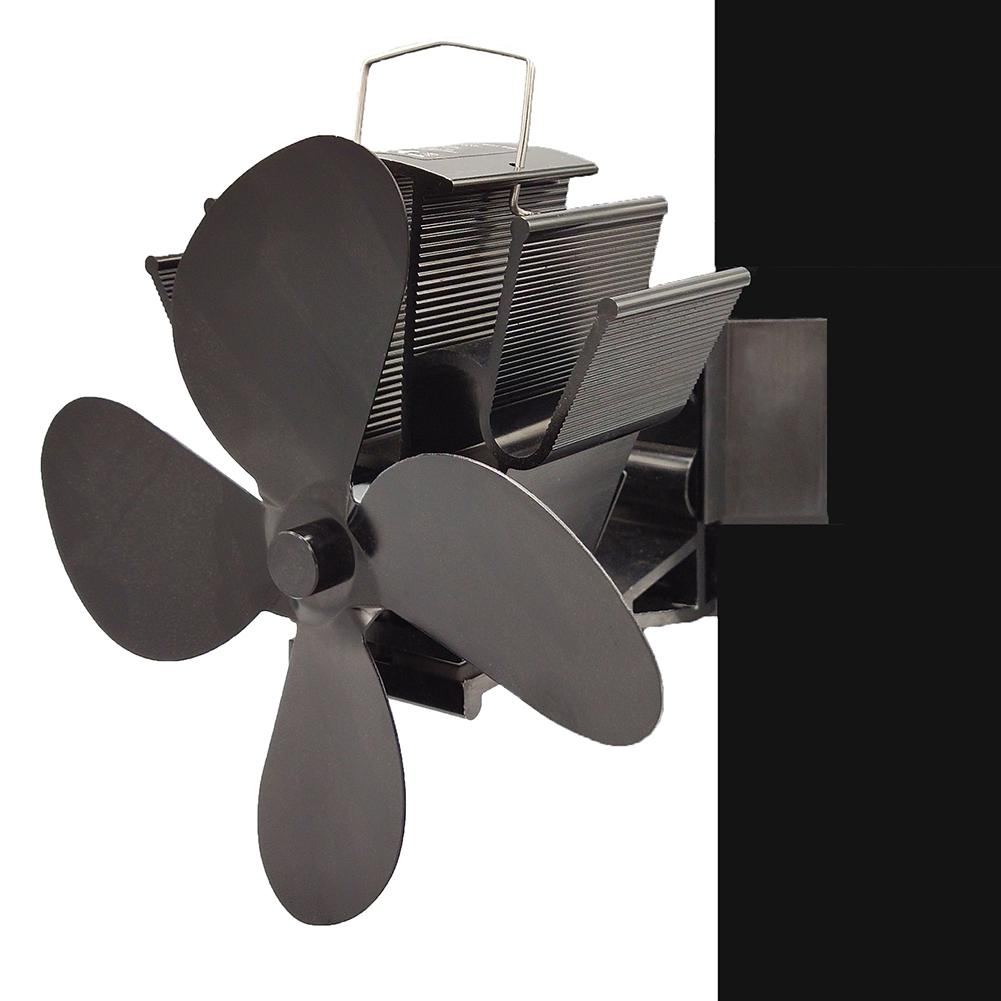 New Absorption Wall Ultra-quiet 4 Blades Heat Power Stove Fan Double Head Fireplace Fan 2020