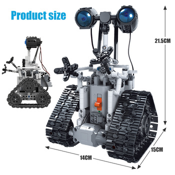 ZKZC 408PCS City Creative RC Robot Electric Building Blocks Technic Remote Control Intelligent Robot Bricks Toys For Children 6