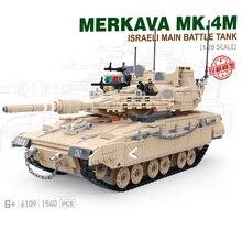 Мировая война Военная серия Израиль Меркава MBT MK4 основной боевой танк SWAT Солдат фигурки строительные блоки игрушки для детей Подарки