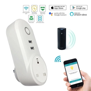 Image 5 - Smart WiFi Power Plug Outlet Socket with USB Remote Control App Control Timer Function Compatible with Amazon Alexa Google Home