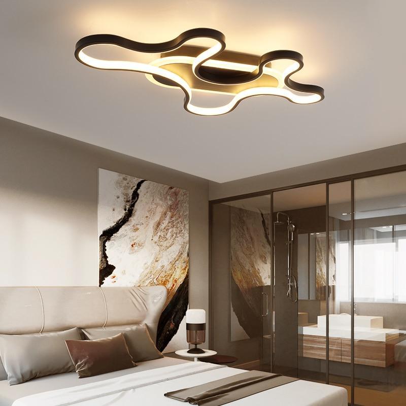 Creative Modern led chandeliers ceiling for livingroom bedroom studyroom lustre led White/Black Color Modern chandelier lighting