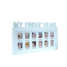 """Творческий DIY 0-12 месяцев ребенок """"Мой первый год"""" фотографии дисплей пластиковая фоторамка сувениры в память детей растущей памяти подарок"""
