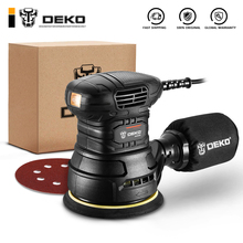 DEKO DKSD125J1 350W Random Orbit Sander with Dust exhaust and Hybrid dust canister