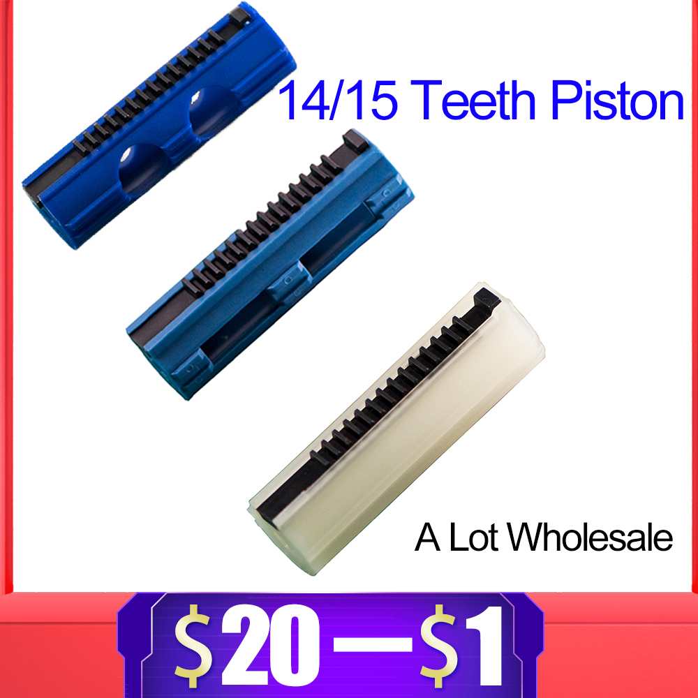 14/15 Ladder Teeth Reinforced Carbon Piston Plastic Full Steel For Airsoft AEG Gel Blaster M4 JinMing9 Paintball Accessories