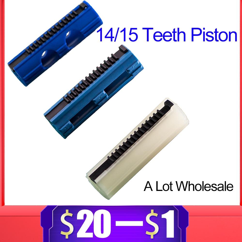 14/15 Ladder Teeth Reinforced Carbon Piston Plastic Full Steel For Airsoft AEG Gel Blaster M4 JinMing9 Paintball Accessories
