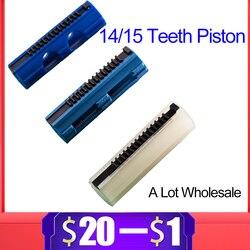 14/15 drabiny zęby wzmocnione tłok węglowy z tworzywa sztucznego pełna stal dla airsoft aeg Gel Blaster M4 JinMing9 Paintball akcesoria