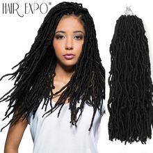 18 дюймов богиня искусственный loc крючком волосы синтетические