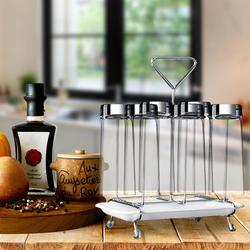 New Stainless Steel Rotating Cup Mug Glass Holder Rack Cupboard Coffee Cup Holder Drainer Storage Cup Glass Drying Rack Stand