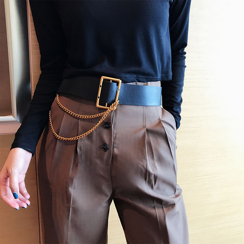 Metal Chain Fashion Long Belt For Any Waist Women New Winter Korean Style Fashion Long Belts Ladies Clothing Decorationd