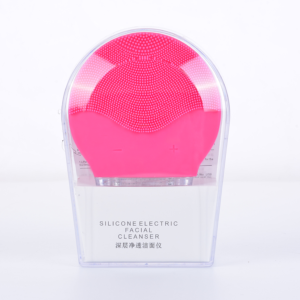 Silicone Cleaner Massage Device Electric Mini Facial Cleansing Massager Brush For Wash Face Cleanser Machine Deep Clean