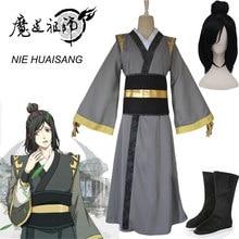 Anime Mo Dao Zu Shi Cosplay NIE HUAISANG młody arcymistrz demonicznej uprawy kostium mężczyźni Anime dorosłych peruka chiński Fan