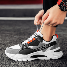 Comfortable Sneakers Shoes Fashion Leisure Men's Trend Sole Color-Mixing Thick New-Arrival