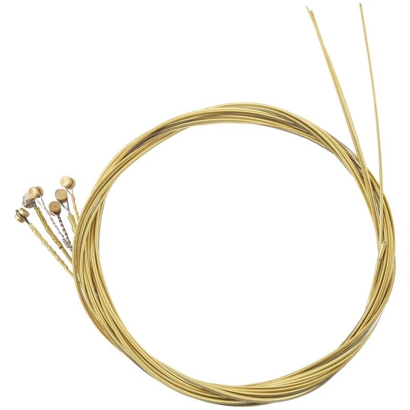 6 шт. Сменные стальные струны для акустической гитары Новое серебро + латунь