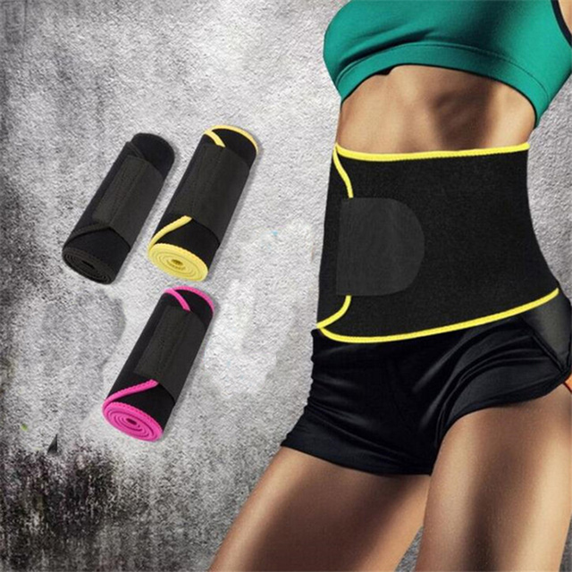 Adjustable Waist Support Waist Trimmer Belt Weight Loss Sweat Band Wrap Fats Tummy Stomach Sauna Sweat Belt For Walking Jogging 3