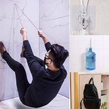 1 шт., 5 кг, крепкие прозрачные крючки на присоске, вешалки для кухни, ванной комнаты, водостойкая клейкая стойка для тяжелой нагрузки