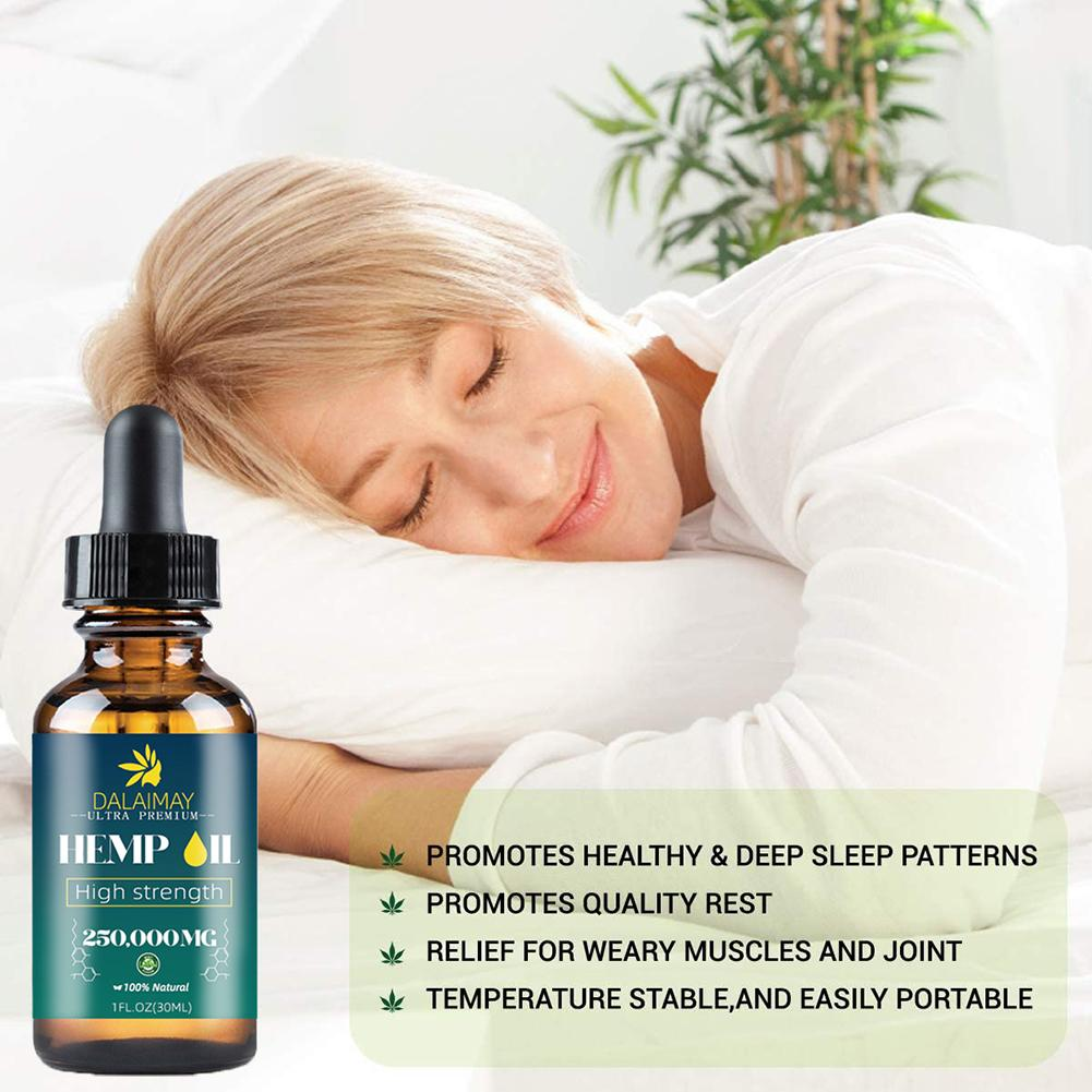 Natural Organic Hemp Seed Oil Essential Oil Extract For Anxiety & Stress Relief Improve Sleep Soothing Fatigue Body Massage Oil-3