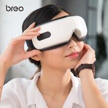 Breo ise4x elétrica portátil massageador de olho com aquecimento pressão ar música vibração shiatsu massageador terapia massagem cuidados com os olhos
