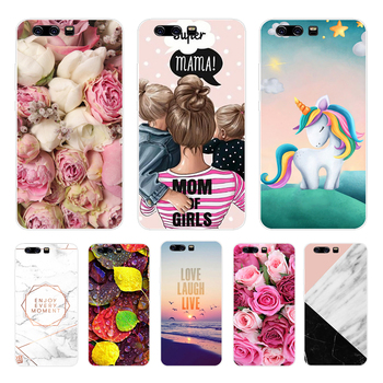 For Huawei P10 lite Silicone Soft Cover Phone Case For Huawei P10lite P 10 lite Cute Cover Back Case