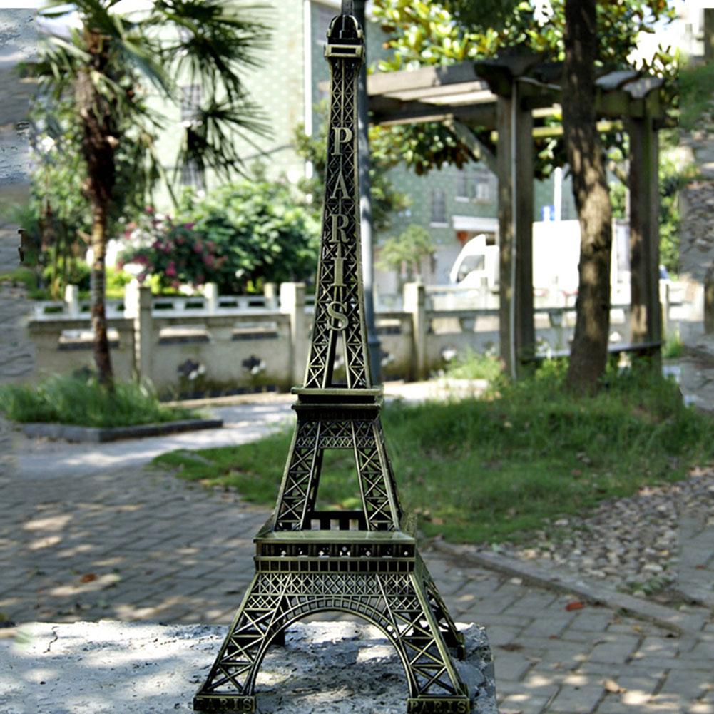 Ретро-фигурки Эйфелевой башни с бронзовым тоном в Париже, статуи, модель для дома, спальни, настольное украшение для автомобиля