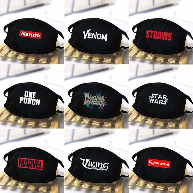 Fashion Viking Anti Dust Masks Protective Unisex mascarillas kpop Breathable Masks Mouth Muffle Respirator Star Wars masque 1