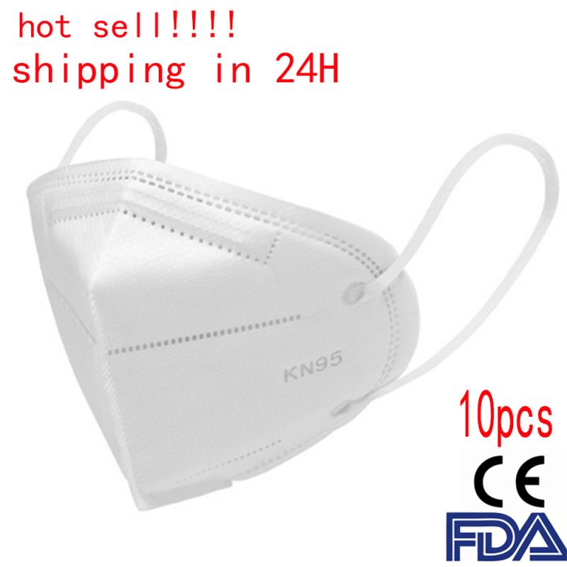 N95 5 Layers Mask Bacteria Proof Anti Infection KN95 FFP2 Masks Particulate Mouth Respirator Anti PM2.5 Safety Protective Mask