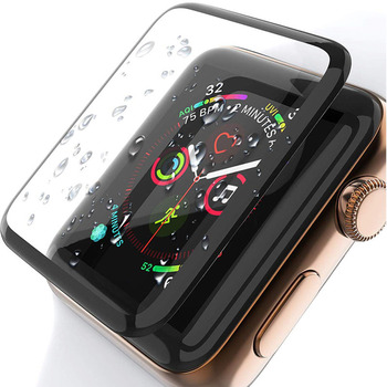 3D Curved Edge HD Tempered Glass for Apple Watch Series 3 2 1 38 42MM Screen Protector film for iWatch 4 5 6 40MM 44MM Full glue tempered glass 3d full coverage protector for apple watch 4 curved screen edge protective film for iwatch series 40mm 44mm