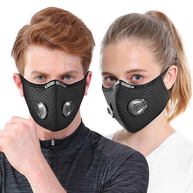 NO.ONEPAUL Dust masks activated carbon windproof mouth muffled anti-flu masks fashion black mask cotton mask facial respirator 2