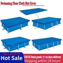 Venda quente grande tamanho da piscina retângulo chão pano lábio capa de pano chão dustproof tapete para villa ao ar livre jardim piscina