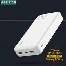 FERISING 18W Batterie Externe 20000 mAh Batterie Externe Portable Rapide Chargeur Rapide QC PD 3.0 20000 mah téléphone Tablette Portable PowerBank