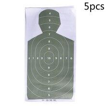 Novo 5 pçs tiro silhueta alvo prática papel alvo seta caça acessórios
