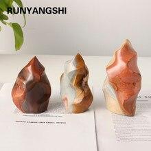 1pc Natural Ocean Jasper Crystal Torch crystal crafts Energy gem quartz Hand carved home decoration