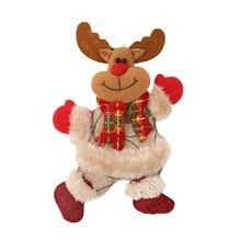 Рождество украшения магазин магазин старик человек кукла дверь вешалки рождество олененок снеговик рождество елка украшения