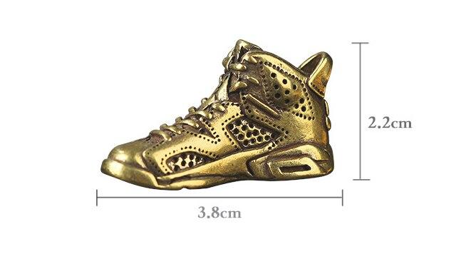 בציר פליז נעל נעל מלאכת DIY תליון קישוט מיניאטורי Keychain טבעת תליון אביזרי a1417