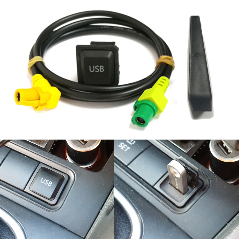 Car <font><b>USB</b></font> AUX switch cable harness <font><b>USB</b></font> audio <font><b>adapter</b></font> RCD510 RNS315 for <font><b>VW</b></font> Passat B6 B7 <font><b>Golf</b></font> <font><b>5</b></font> MK5 <font><b>Golf</b></font> 6 MK6 GTI Jetta <font><b>5</b></font> MK5 CC image