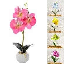 Имитация маленькая бабочка Орхидея искусственный цветок Мини Шелковый цветок для нового года украшения дома свадьбы сделай сам Искусствен...