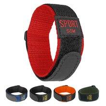 Yqi náilon pulseira de relógio 26mm 24mm 22mm 20mm 18mm pulseira de relógio esporte à prova dwaterproof água gancho e laço fixadores longo para homem