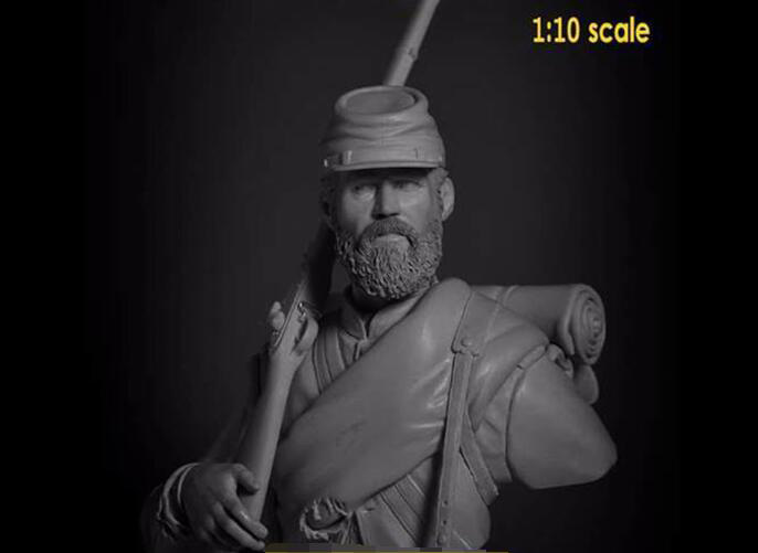 1/10 Ancient WARRIOR Stand Bust   Resin Figure Model Kits Miniature Gk Unassembly Unpainted